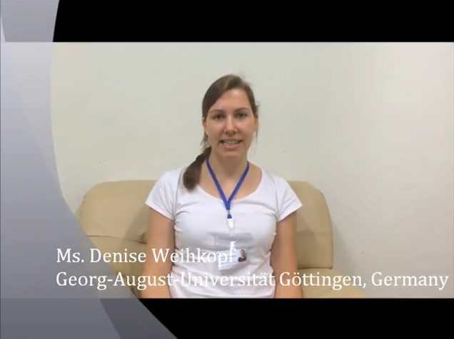 Ms. DENISE WEIHKOPF from Georg-August-Universität Göttingen