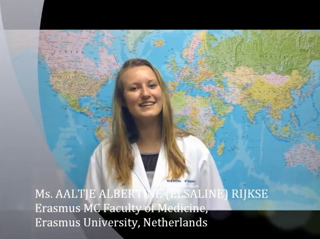 Ms. AALTJE ALBERTINE (ELSALINE) RIJKSE from Erasmus MC Faculty of Medicine, Erasmus University, Netherlands