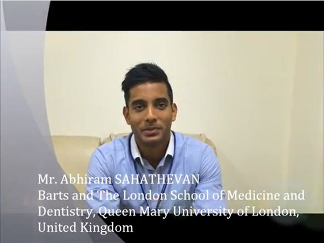 Mr. ABHIRAM SAHATHEVAN from Barts and The London School of Medicine and Dentistry, Queen Mary University of London, United Kingdom