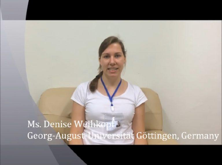 Ms. DENISE WEIHKOPF from Georg-August-Universität Göttingen