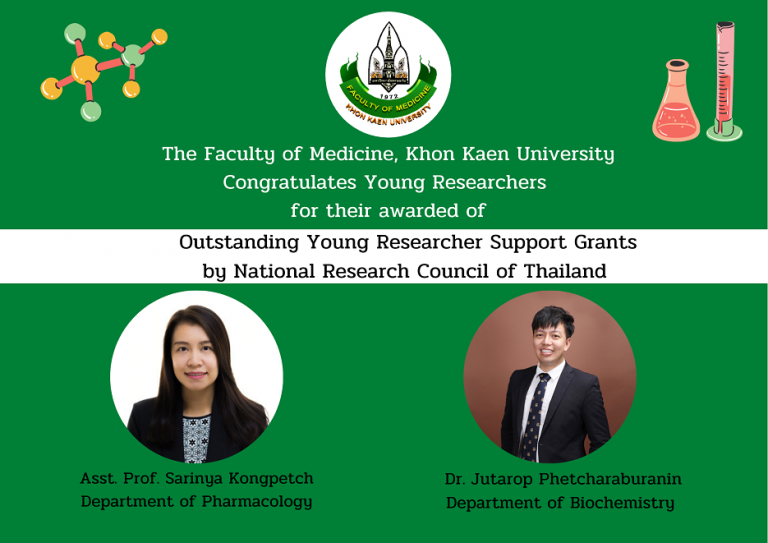 MDKKU Professors Receive National Research Council of Thailand Research Grants