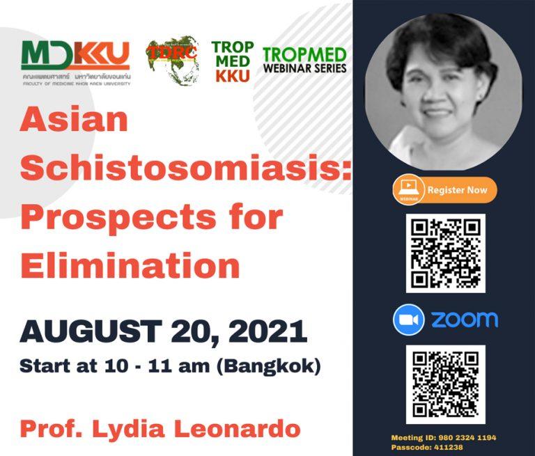 TropMed Webinar: Asian Schistosomiasis: Prospects for Elimination